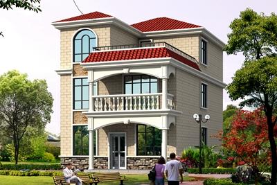 好看的农村二层半别墅设计图,房子建成后让全村人都来观摩凑热