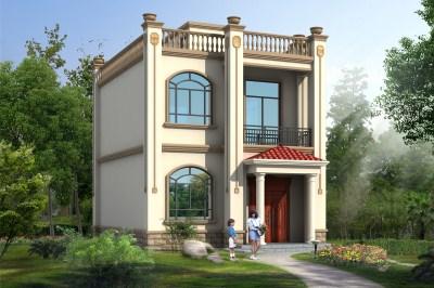 农村10万二层楼房设计图,普通别墅自建房户型