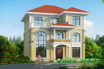 现代三层民房设计图户型方案,父母们都会喜欢的户型