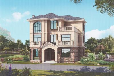 简欧三层三间楼房别墅设计图,非常经典实用接地气