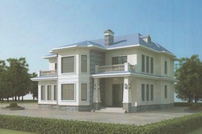 美式风格二层自建房设计图,农村自建房的上佳之选。
