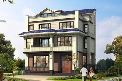 小户型带电梯自建四层别墅房屋设计图,布局合理,实用