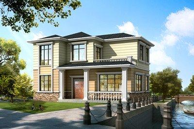 简约精致的二层自建房设计图,房美价廉,简单大气