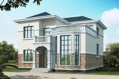 农村二层复式小别墅设计图,带外观图片,好看