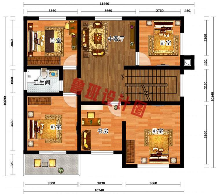 二层别墅户型图