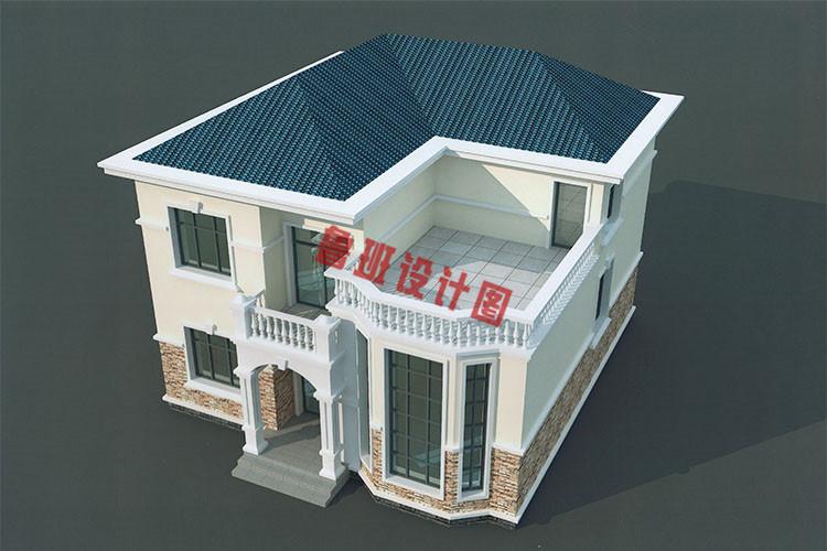 二层复式小别墅效果图