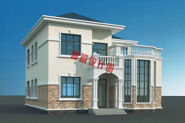 二层复式小别墅外观图片