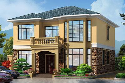 农村18万元二层小楼设计图,简洁好看、造价低