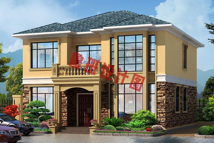 两间二层楼房设计图_农村18万元二层小楼设计图,简洁好看、造价低_二层别墅设计图 ...