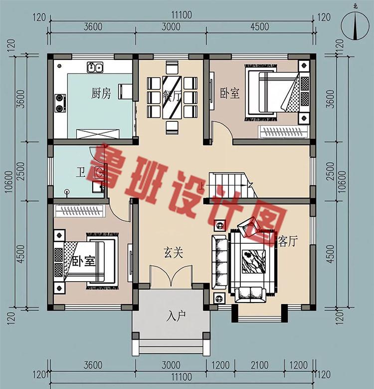 农村18万元二层小楼一层户型图