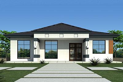 农村10万元一层小别墅设计图,现代风格、颜值高