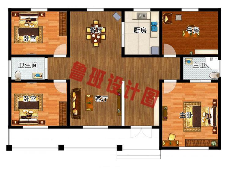 乡下建房一层户型图