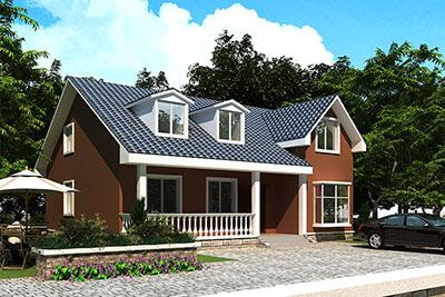 现代一层半楼房设计图,一层半别墅设计图推荐