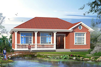 普通农村三间平房设计图,一层3间别墅户型精选