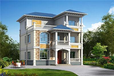 农村120方三层自建房子设计图,房屋设计图推荐