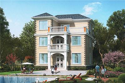 25万左右农村三层别墅设计图,简洁经济、户型方