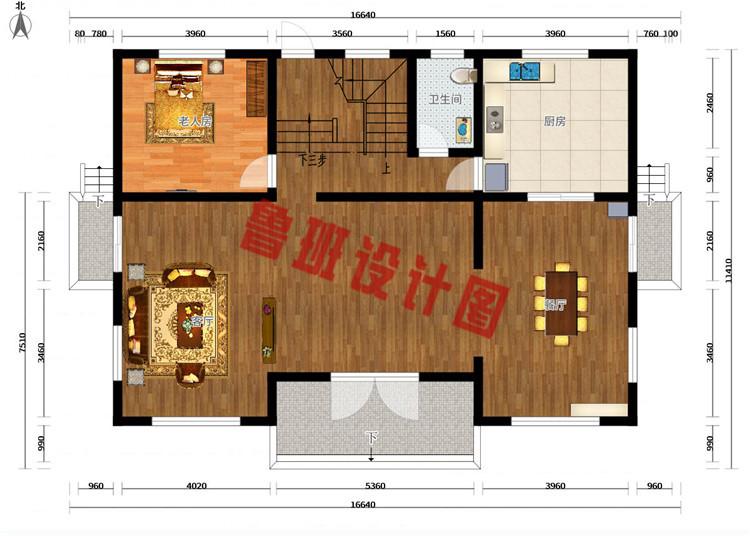 50万左右农村三层别墅设计一层户型图