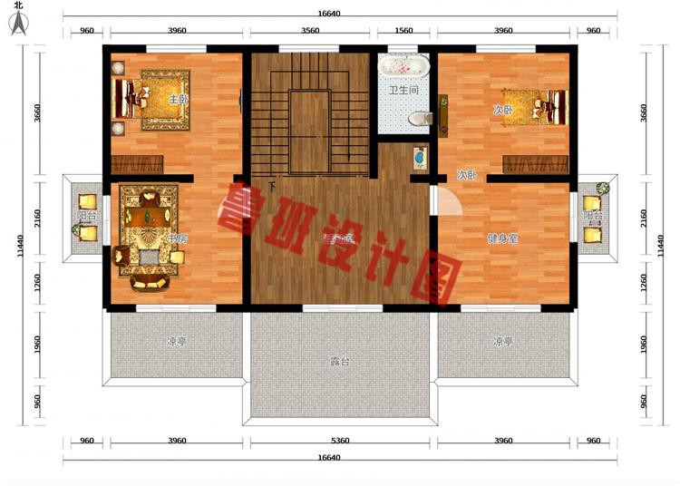 50万左右农村三层别墅设计三层户型图