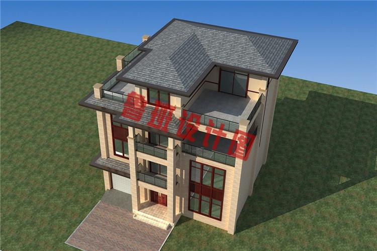 现代新中式四层别墅房屋外观图片