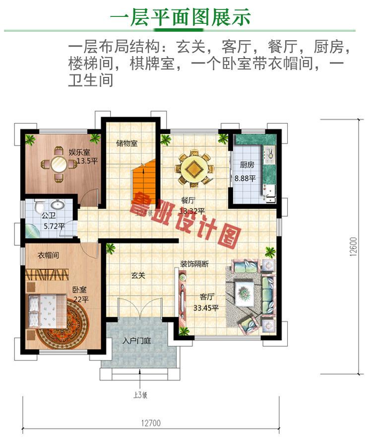 三层30万别墅图片大全及效果图一层户型图