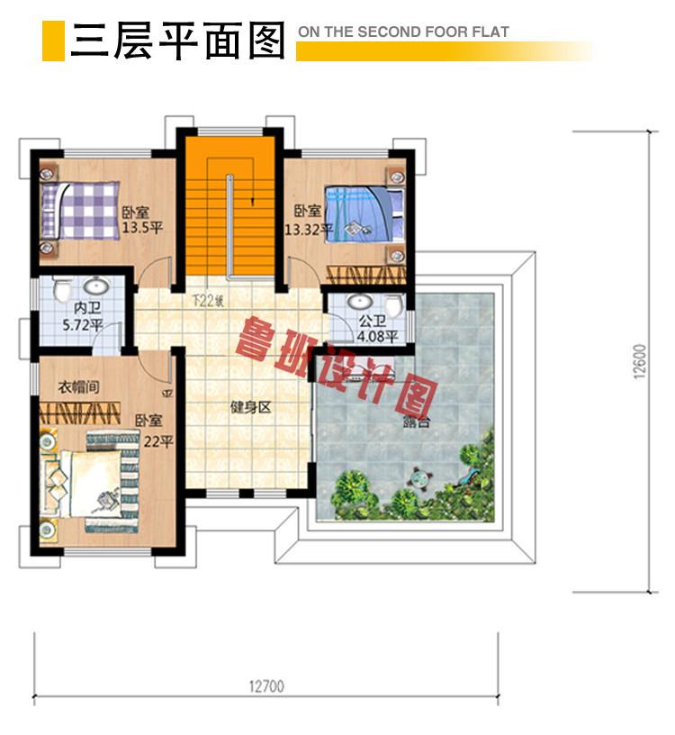 三层30万别墅图片大全及效果图三层户型图