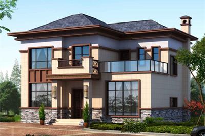农村二层楼简单大气的设计方案图,户型方正,爆款