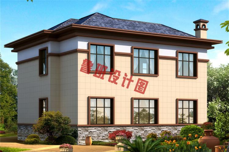 农村二层楼简单大气的别墅图片