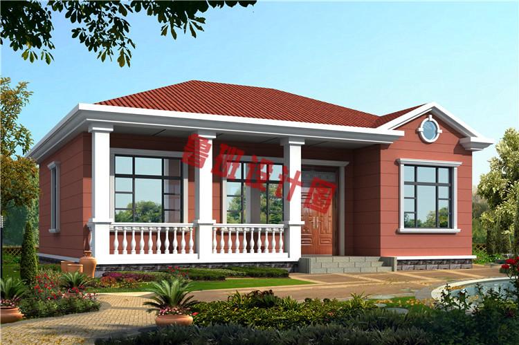 5套农村一层平房设计图送给你了 回老家建平房的有福了