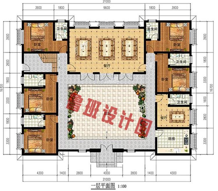 四合院平面图一层户型图