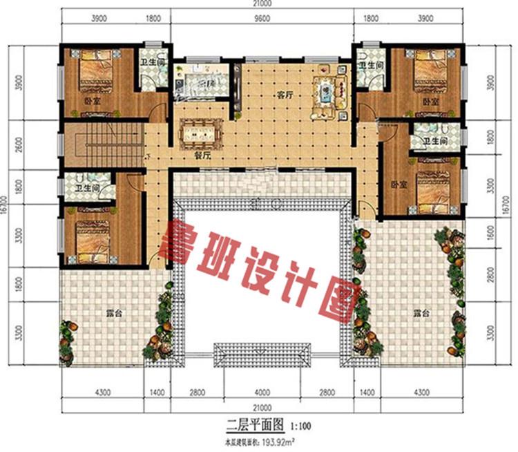 四合院平面图二层户型图
