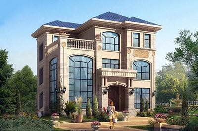 农村三层楼房新款图片(附全套设计图),占地100平方米左右
