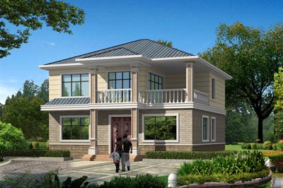 2019新款三间二层别墅设计图,外观配色素雅低调