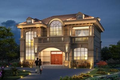 2020二层农村新款别墅设计图,外型精美,豪华非凡