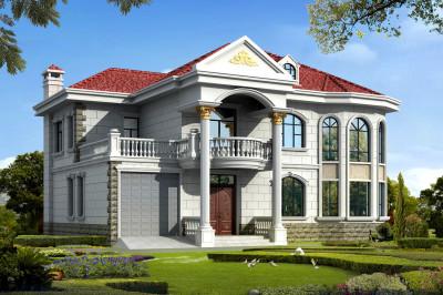 180平米二层简欧小别墅设计图,户型大气简约,
