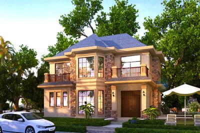 2019新款三间二层别墅设计图,简单大气的欧式风格。