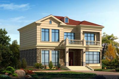 农村13万元二层小楼设计图,主体造价低,简洁易建