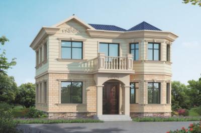 115平欧式二层小别墅房屋设计图,外观图片漂亮