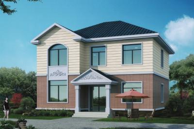 经典简单二层房屋设计图,外观素雅、户型通透
