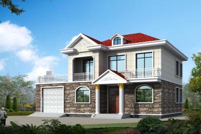 160平现代风二层房屋别墅设计图,外观靓丽。
