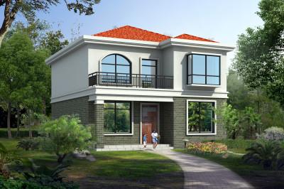 二层楼房图片造价12万小别墅设计,简单造价低