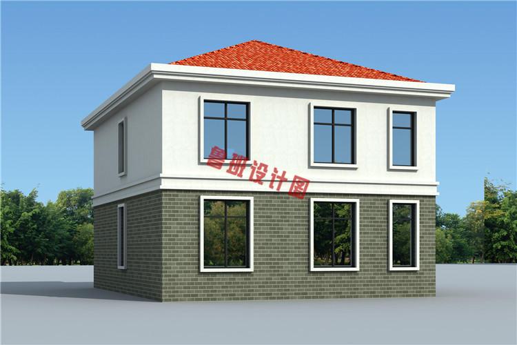 经济实用型二层小别墅外观图