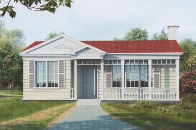 一层农村平房屋设计图,面积适中,户型好
