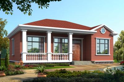 130平中式乡村小别墅设计方案设计图,造型独特,适合养老。