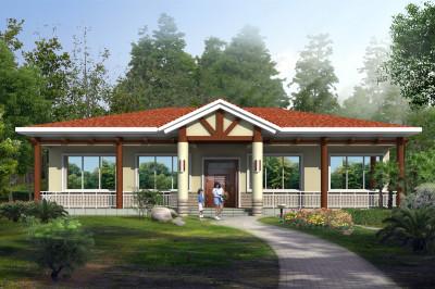 200平一层农村现代别墅设计图,既美观又实用,而且很温馨