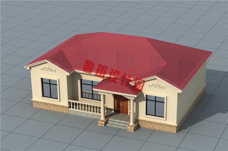 热销一层小别墅设计鸟瞰图
