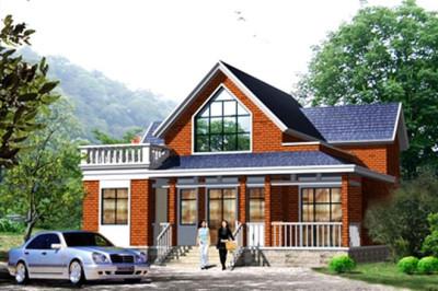 一层半小别墅新款农村房屋设计图,外观洋气大方