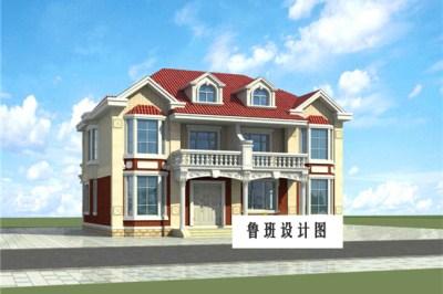 一层共用的二层双拼别墅设计图,俩兄弟自建房屋推荐