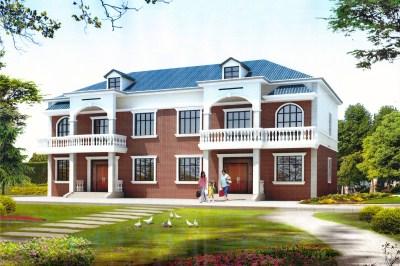 欧式二层带阁楼房屋别墅设计户型图,农村自建推荐