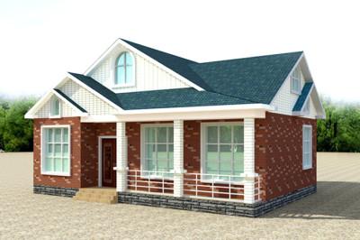 一层半复式别墅小洋楼设计图,外观精致大气