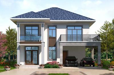 新式15万元农村二层小楼设计图,开放式车库